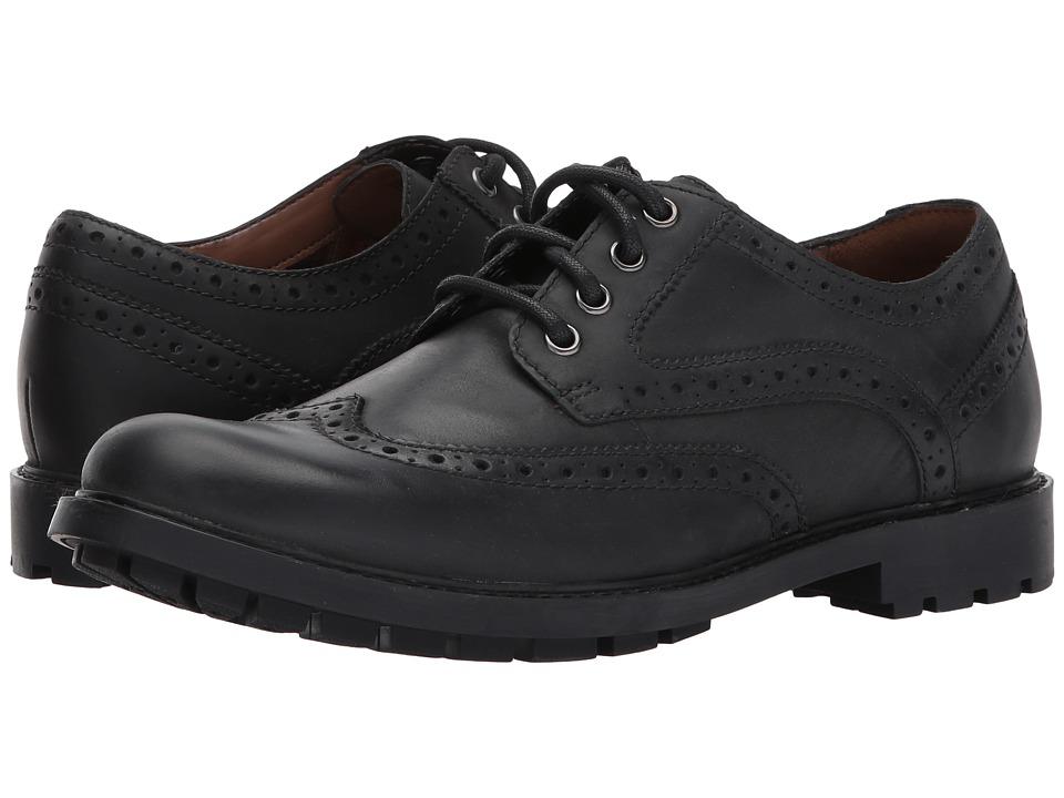 Clarks - Curington Wing (Black Leather) Men's Shoes