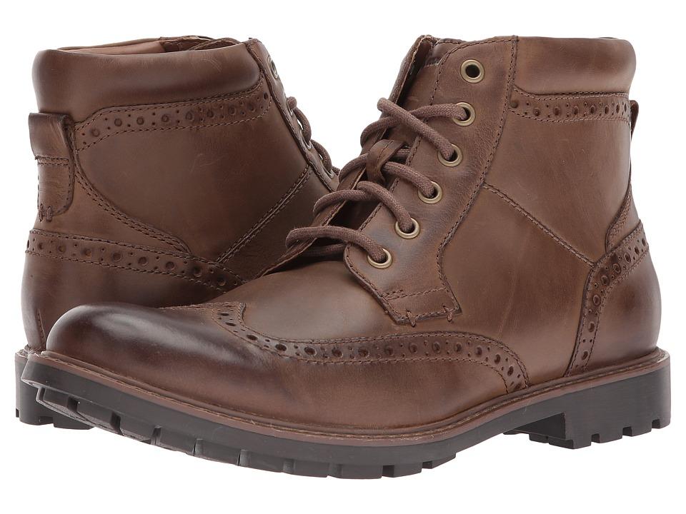 Clarks - Curington Rise (Brown Leather) Men's Shoes
