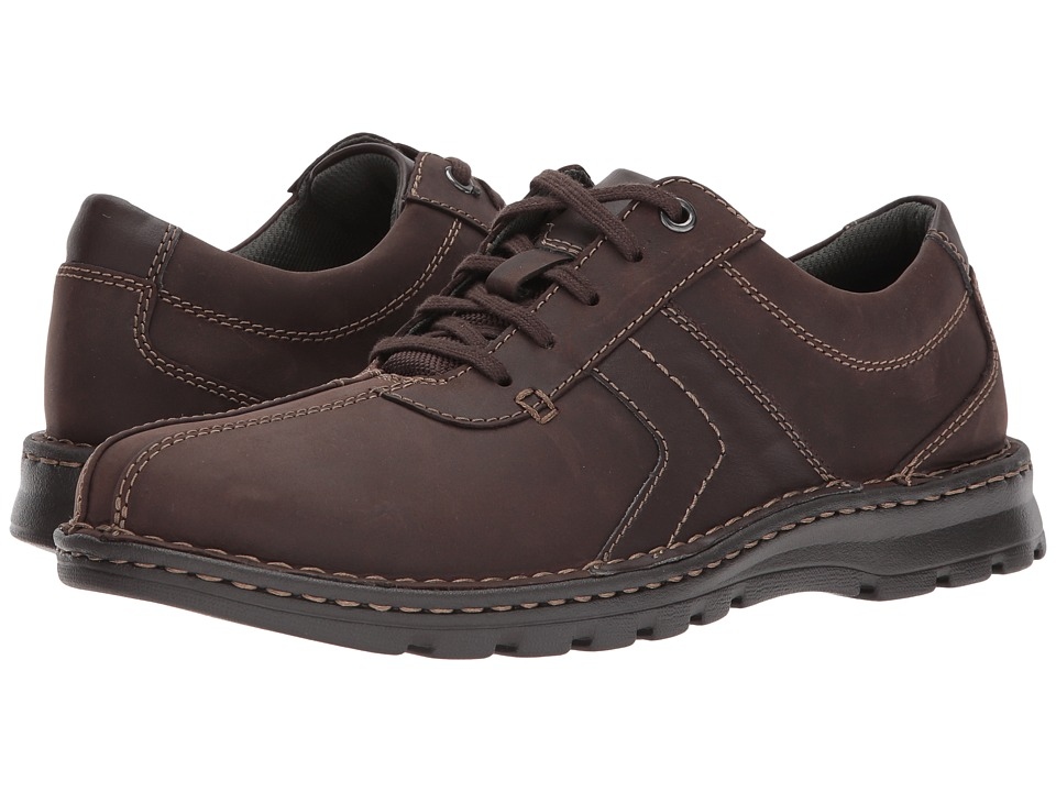 Clarks - Vanek Walk (Dark Brown Leather) Men's Shoes