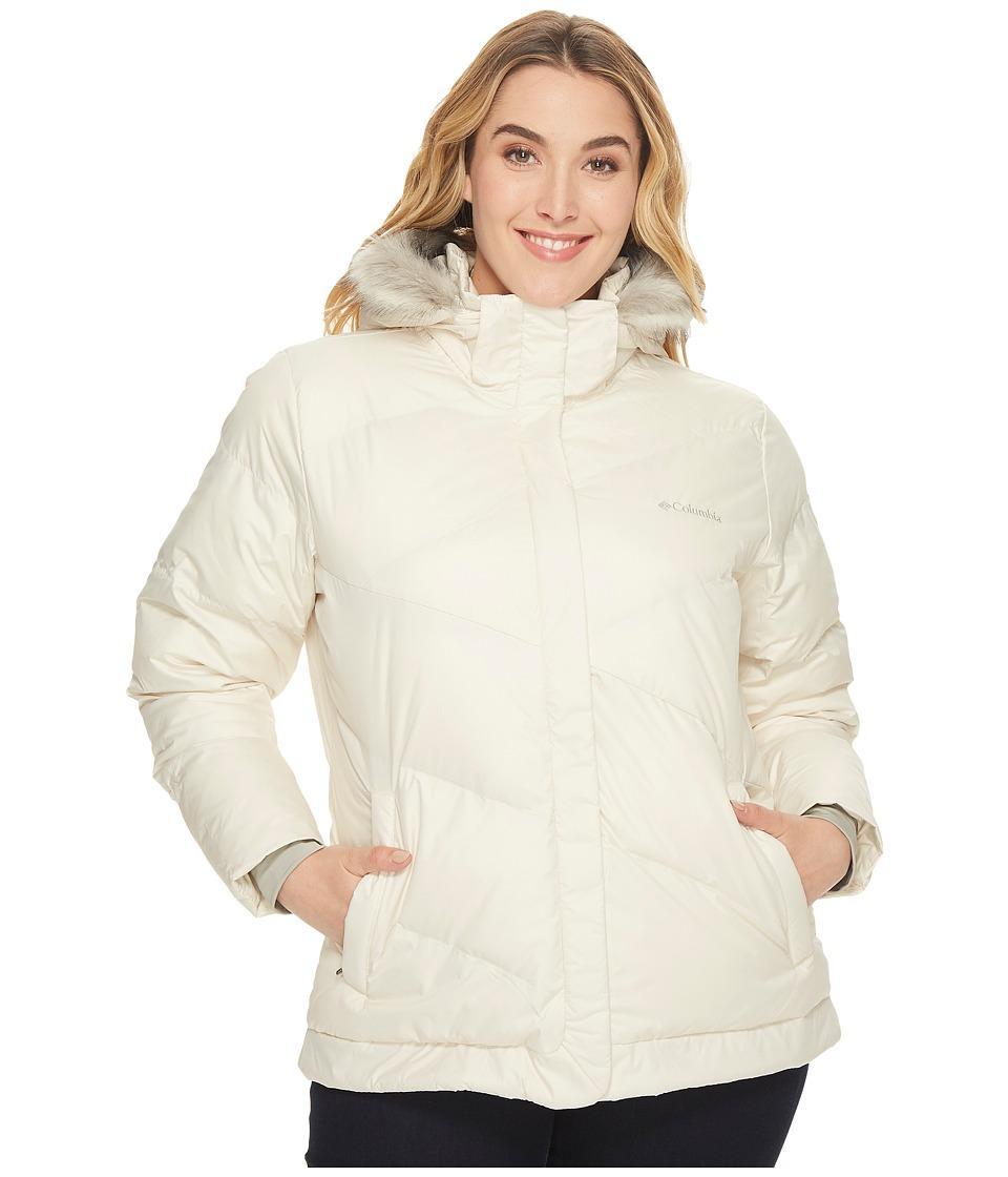 Columbia - Plus Size Snow Eclipsetm Jacket (Chalk) Women's Coat