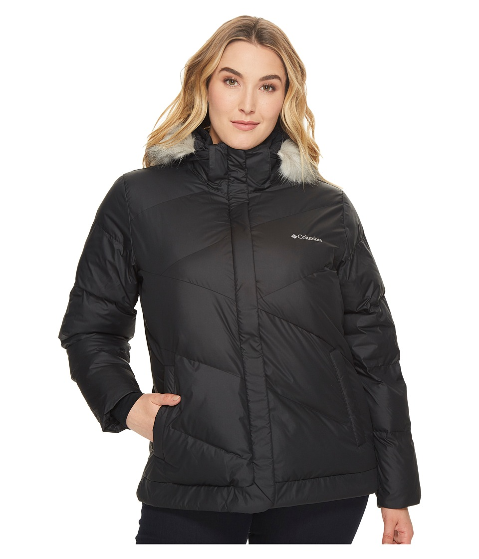 Columbia - Plus Size Snow Eclipsetm Jacket (Black 1) Women's Coat