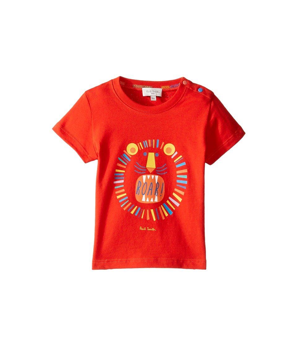 Paul Smith Junior - Short Sleeve Red Lion Tee (Infant) (Fire Red) Boy's T Shirt