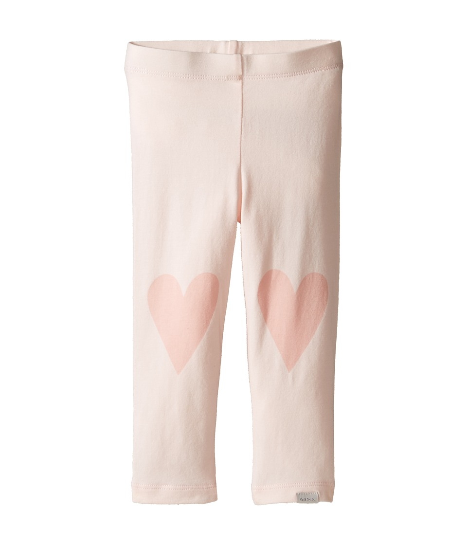 Paul Smith Junior - Pink Leggings with Hearts On Knees (Infant) (Powder Pink) Girl's Clothing
