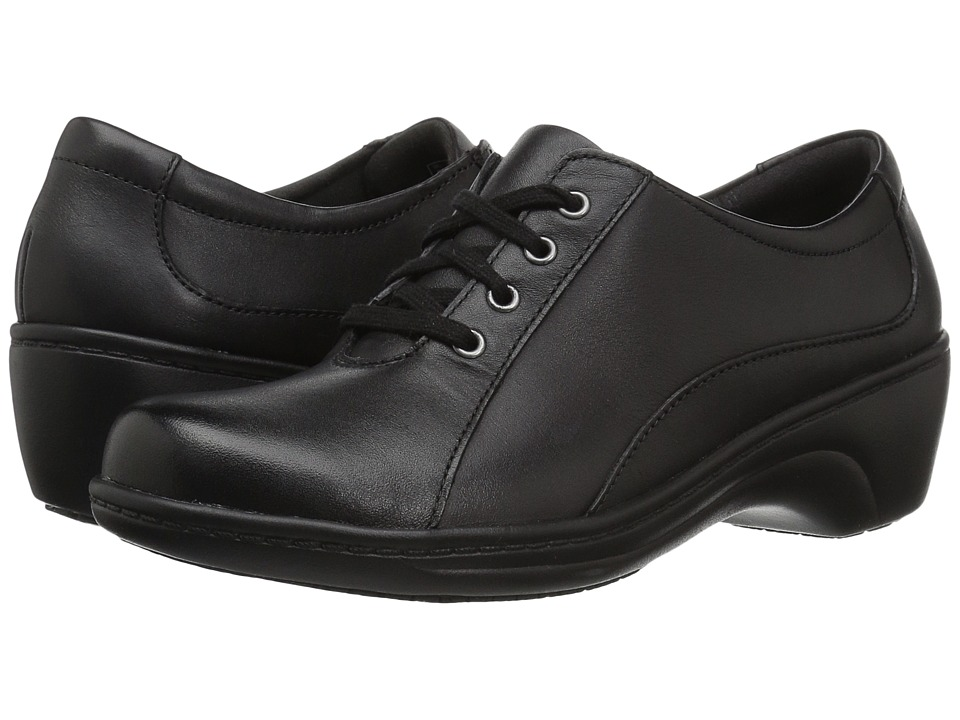 Clarks - Graley Ginger (Black Leather) Women's Shoes