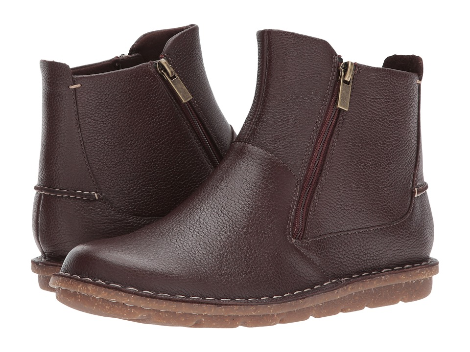 Clarks - Tamitha Flower (Dark Brown Leather) Women's Shoes