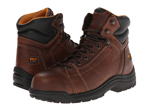 Timberland PRO - TiTAN 6 Lace-To-Toe Safety Toe (Haystack Brown) Men's Work Boots