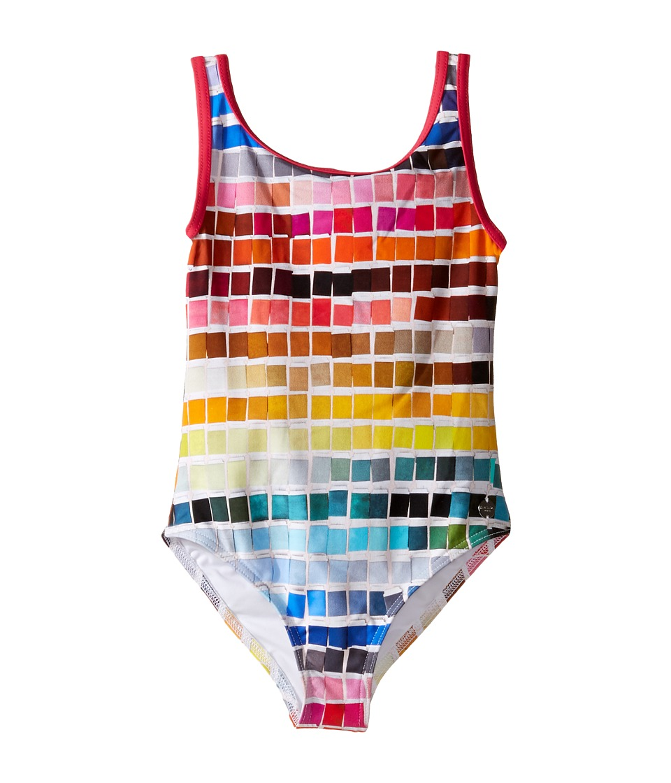 Paul Smith Junior - Color Samples Printed Bathing Suit (Toddler/Little Kids) (Multicolor) Girl's Swimsuits One Piece