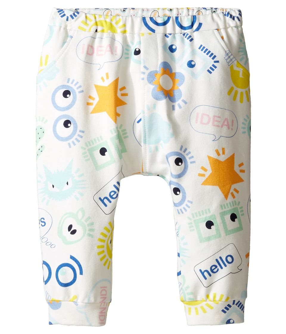 Fendi Kids - All Over Eye Print Logo Sweatpants (Infant) (White/Multi) Kid's Casual Pants