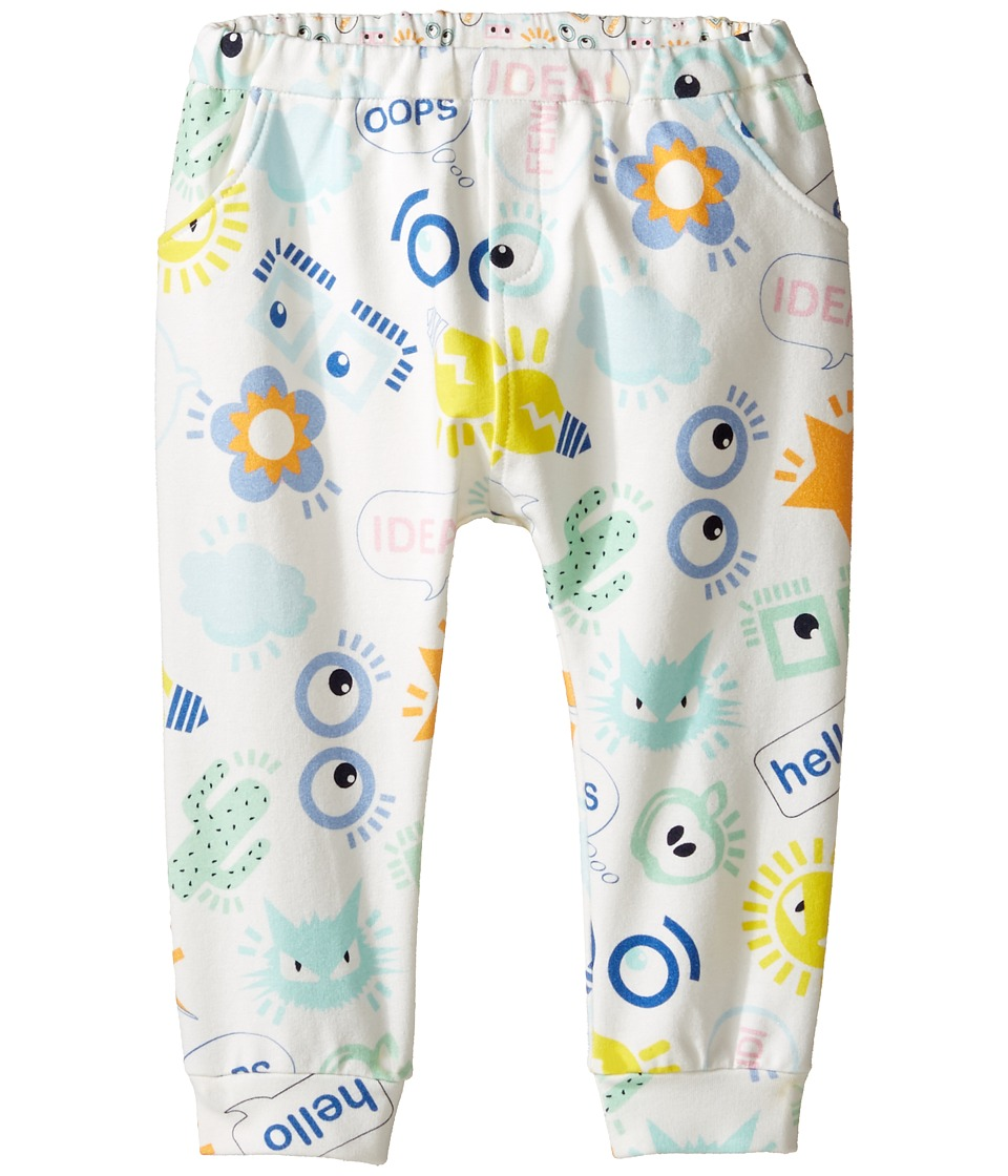 Fendi Kids - All Over Eye Print Logo Sweatpants (Infant) (White/Multi) Kid's Casual Pants