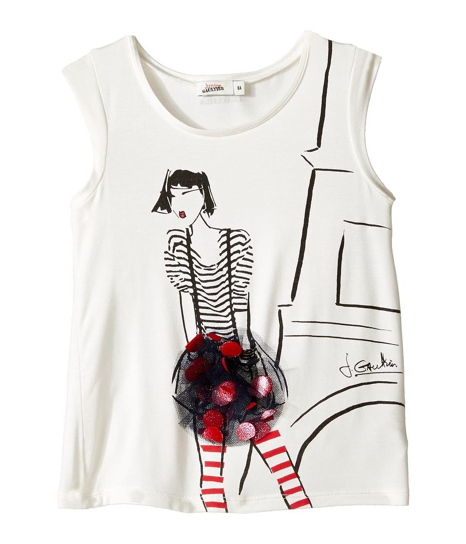 Junior Gaultier - Eiffel Tower Tee Shirt (Toddler/Little Kids) (Ecru) Girl's Clothing