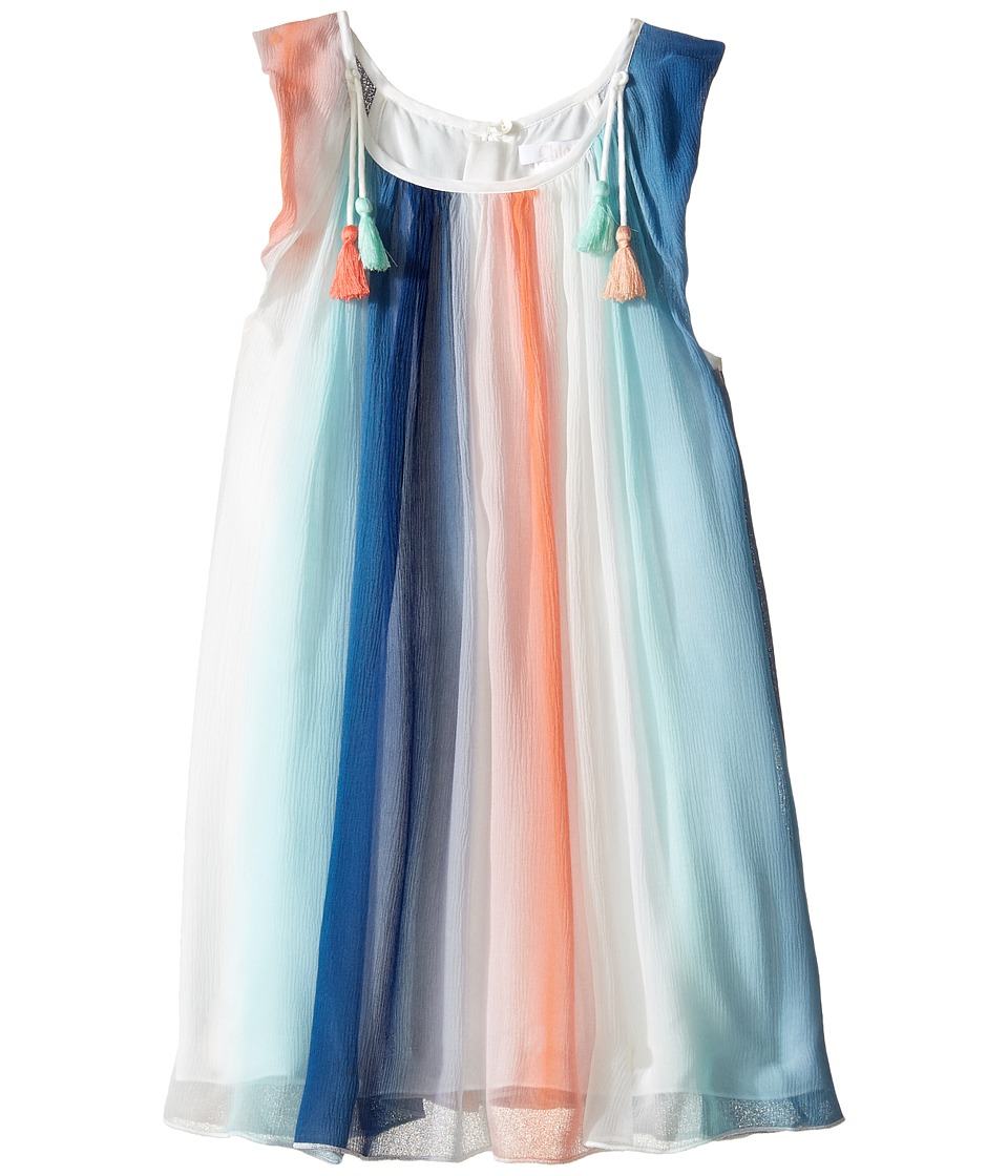 Chloe Kids - Mini Me Couture Rainbow Striped Sleeveless Dress (Little Kids) (Bleu Rouge) Girl's Dress