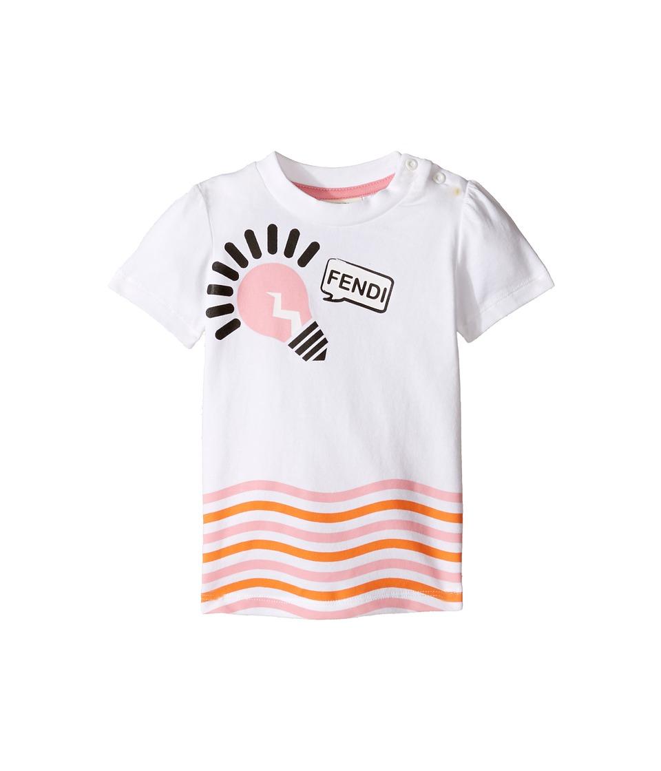 Fendi Kids - Short Sleeve Logo Light Bulb Graphic T-Shirt (Infant) (White) Girl's T Shirt