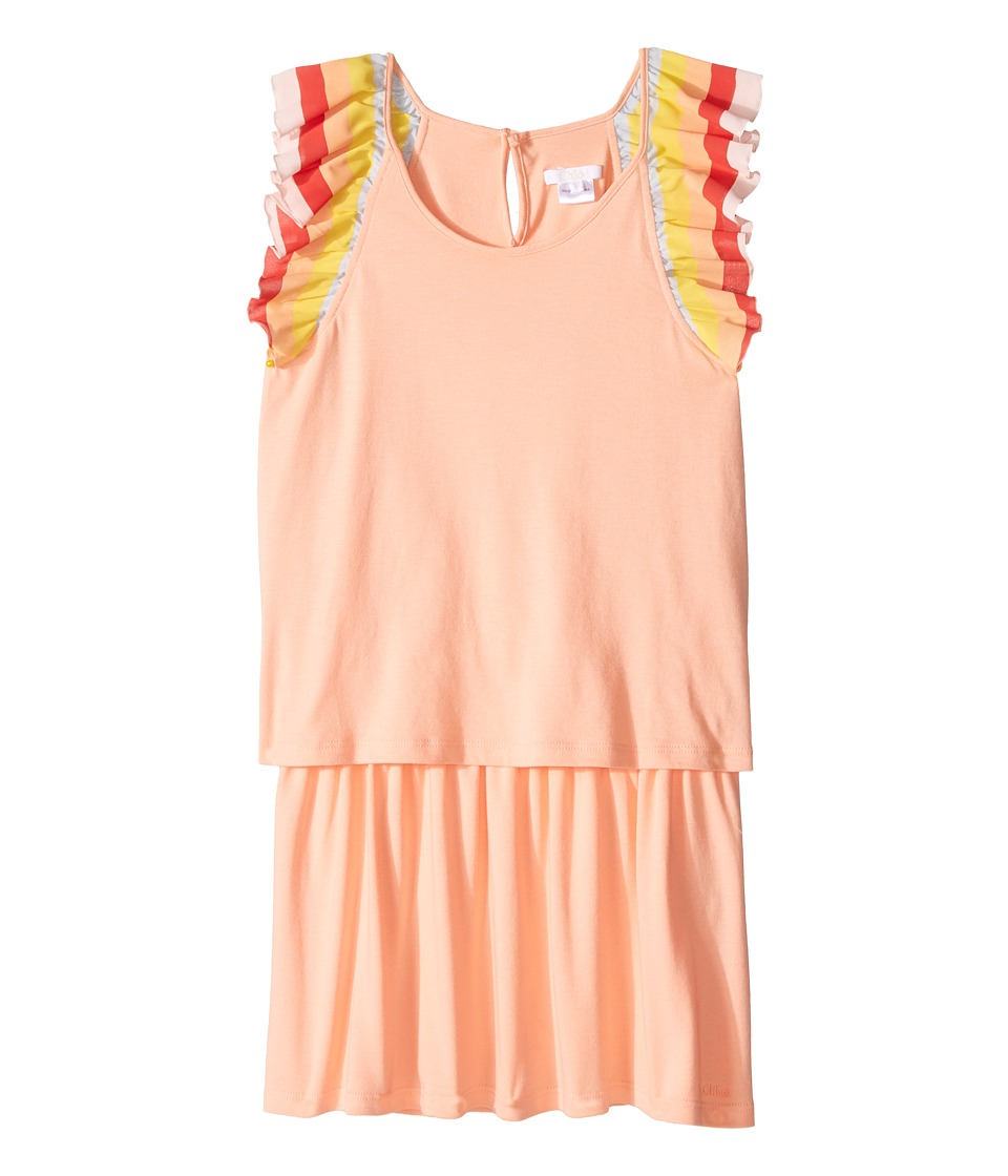 Chloe Kids Rainbow Ruffles Short Sleeve Dress