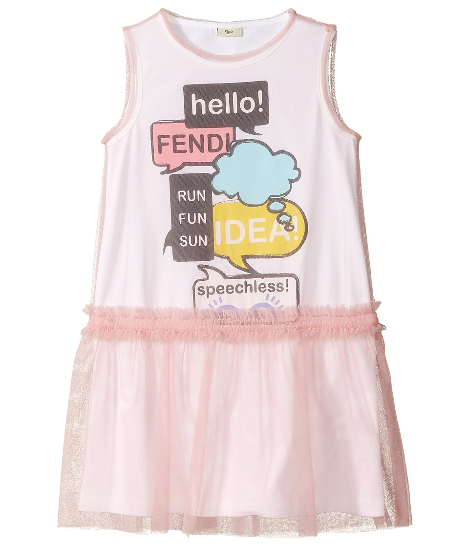 Fendi Kids Text Message Graphic Dress