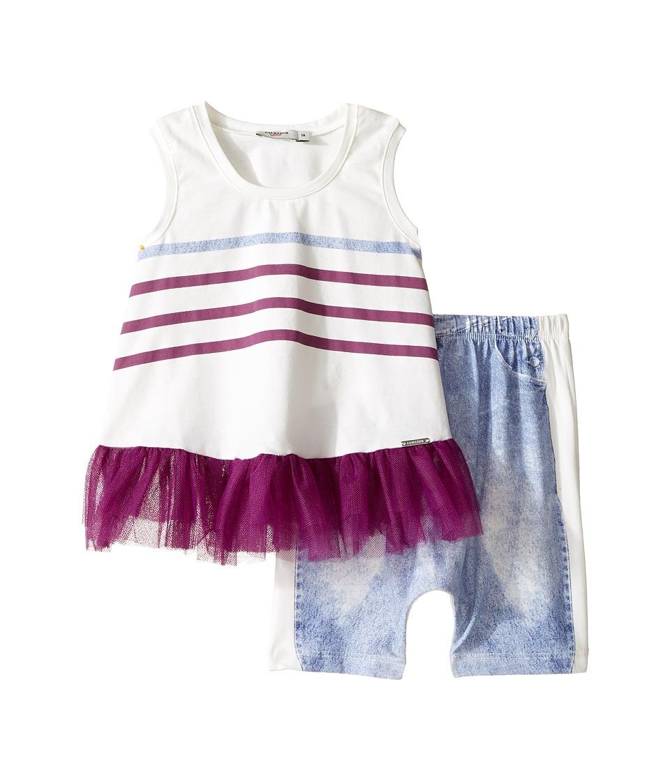 Junior Gaultier - Tulle Pants Set (Infant) (Ecru) Girl's Clothing