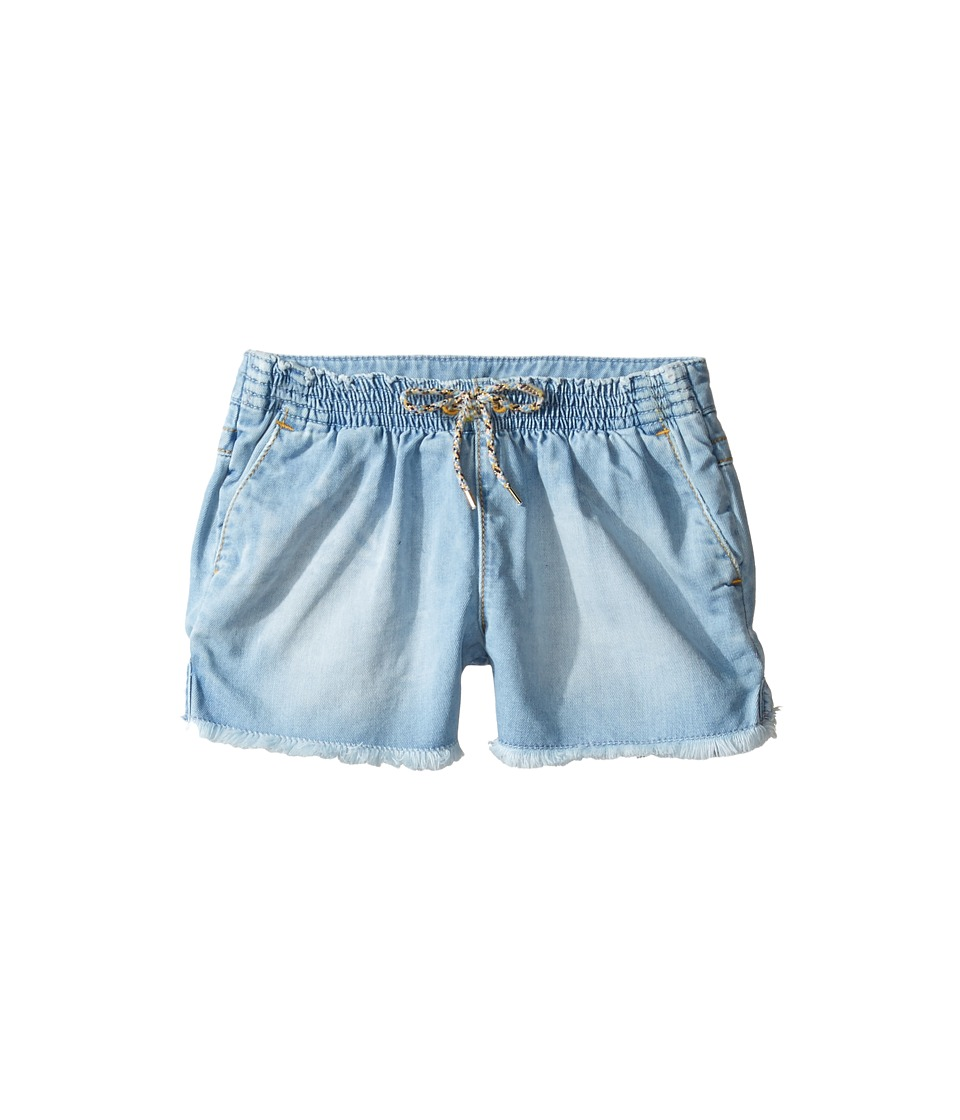 Chloe Kids - Mini Me Denim Effect Shorts (Little Kids/Big Kids) (Denim Blue) Girl's Shorts