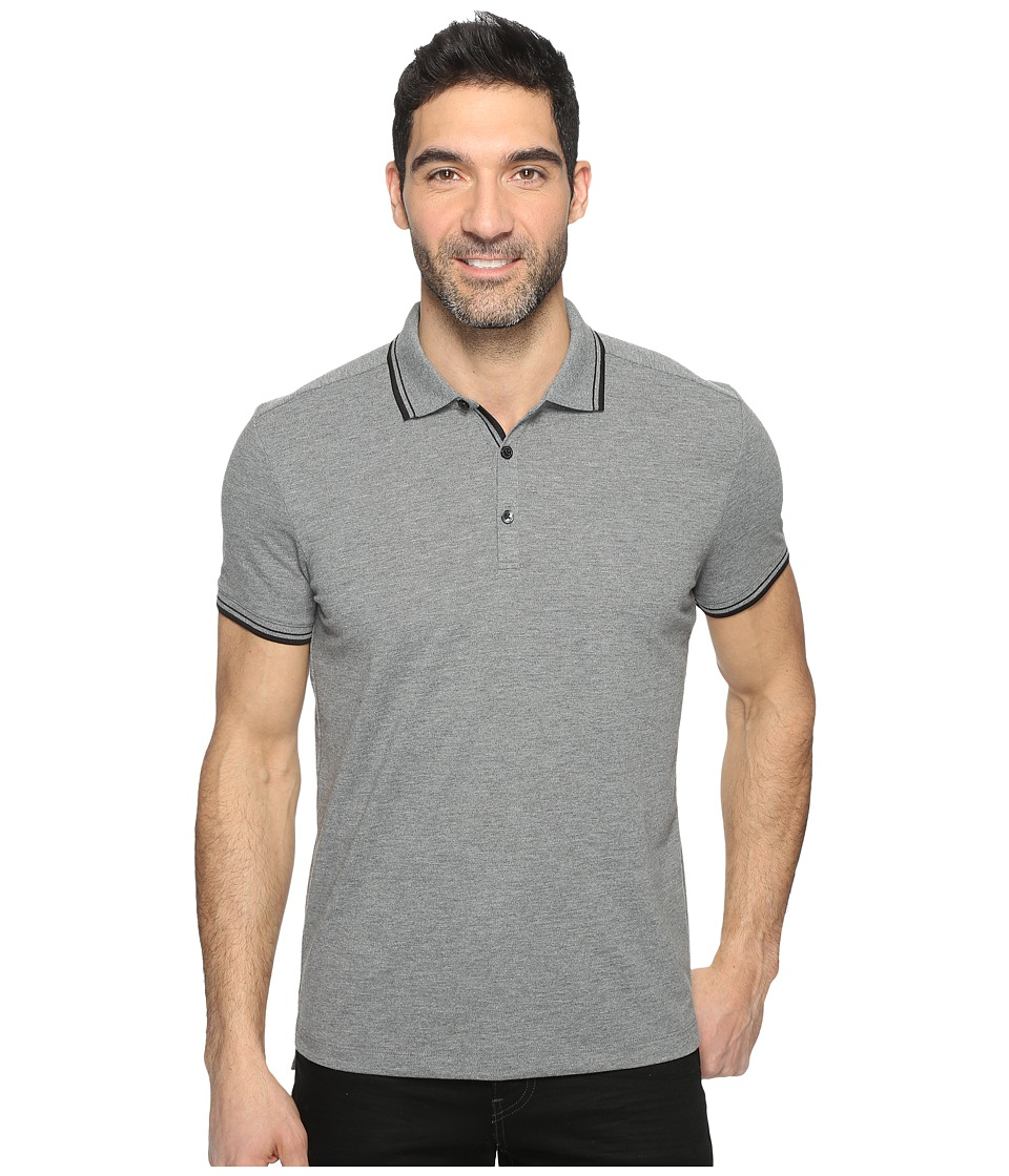 Kenneth Cole Sportswear Polo with Tipping (Flannel Heather) Men