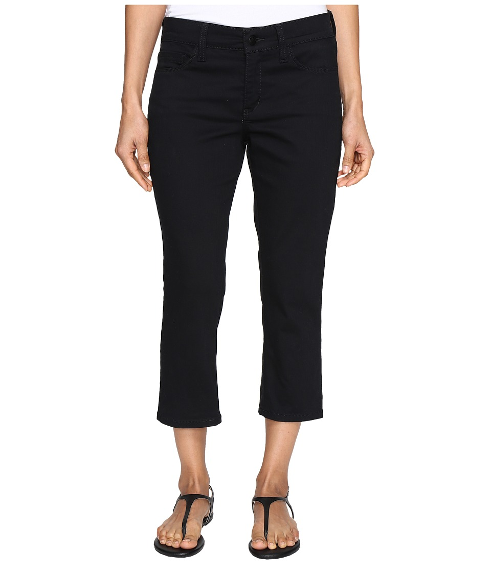 NYDJ Petite - Petite Alina Capri Jeans in Colored Denim (Black) Women's Jeans