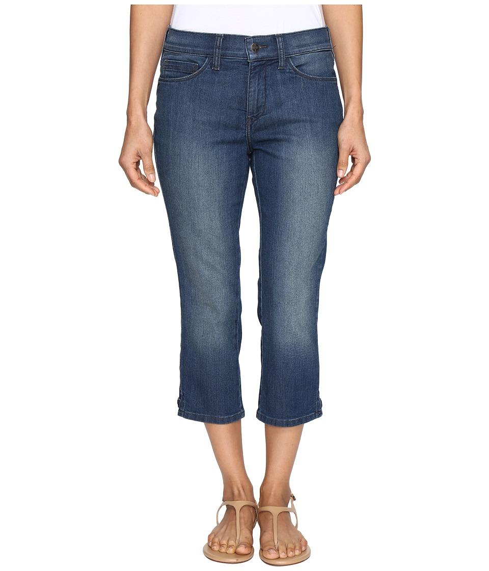 NYDJ Petite Petite Alina Capri Jeans in Nottingham w/ Rhinestone Clasp (Nottingham) Women