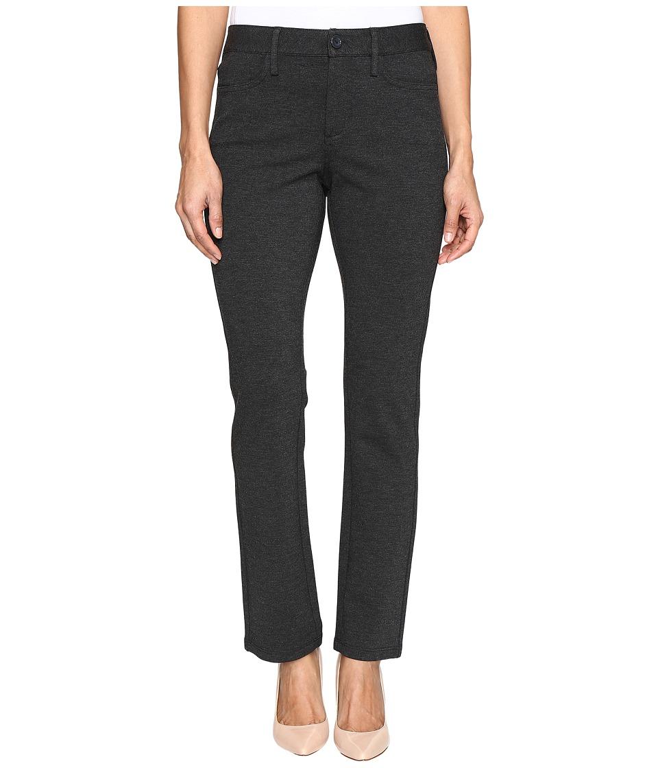 NYDJ Petite - Petite Samantha Slim Leg Ponte Knit Pant (Charcoal) Women's Casual Pants