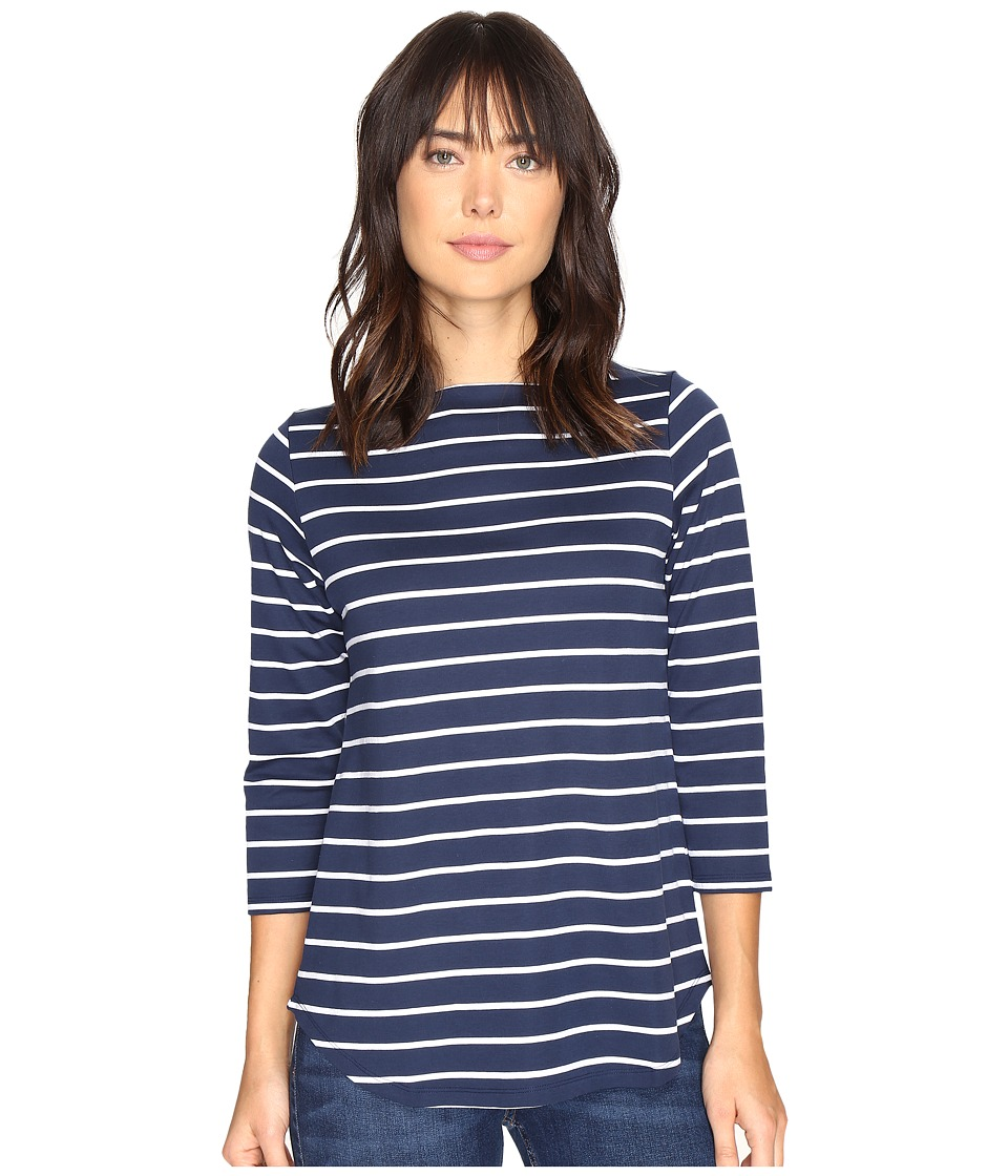 Pendleton - Marseille Stripe Tee (Tartan Navy/White) Women's T Shirt