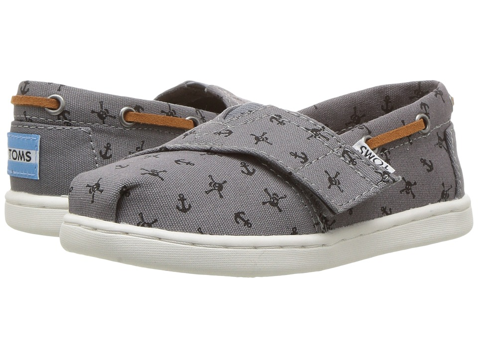 TOMS Kids - Bimini (Infant/Toddler/Little Kid) (Steel Grey Skulls) Boy's Shoes