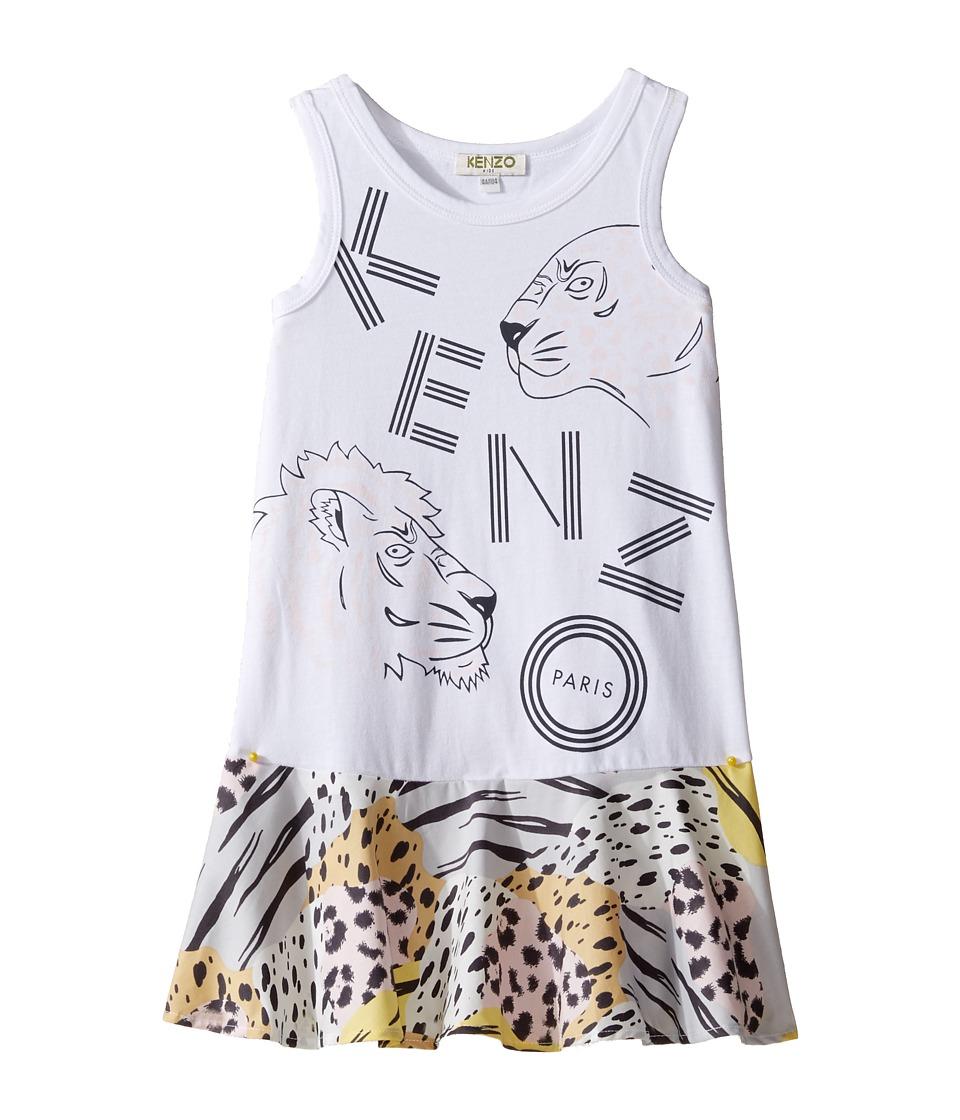 Kenzo Kids - Bafouille Robe (Toddler/Little Kids) (Blanc) Girl's Robe