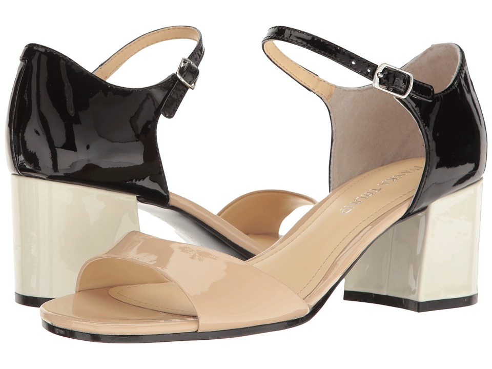 Ivanka Trump - Easta (Light Latte/Black New Patent Leather) Women's Shoes