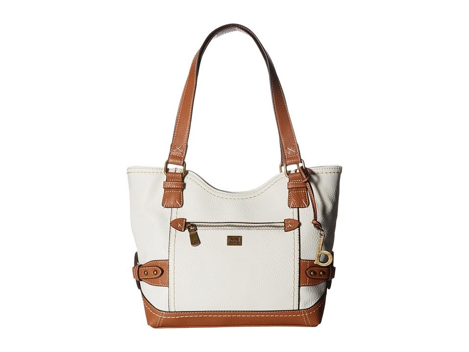 b.o.c. - Corbett Square Tote (White/Saddle) Tote Handbags