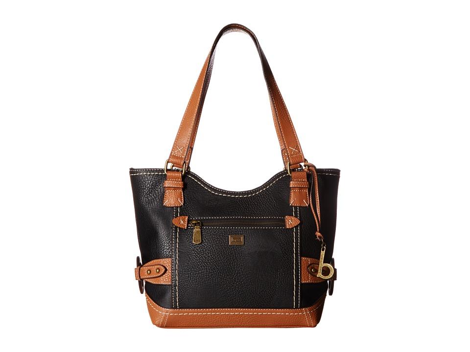 b.o.c. - Corbett Square Tote (Black/Saddle) Tote Handbags