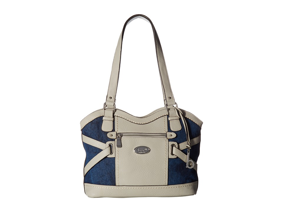 b.o.c. - Park Slope Denim Tote (Denim/Dove) Tote Handbags