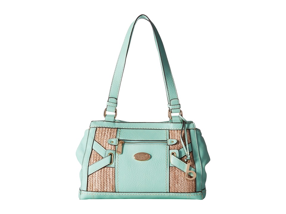 b.o.c. - Park Slope Straw Tote (Mint/Straw) Tote Handbags