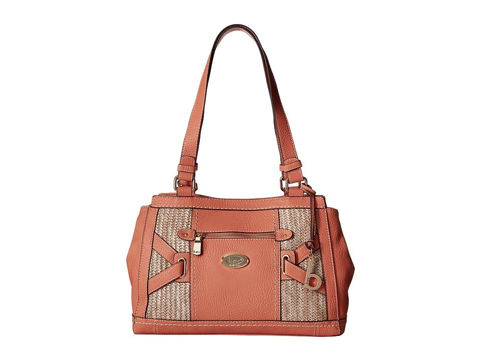 b.o.c. - Park Slope Straw Tote (Coral/Straw) Tote Handbags