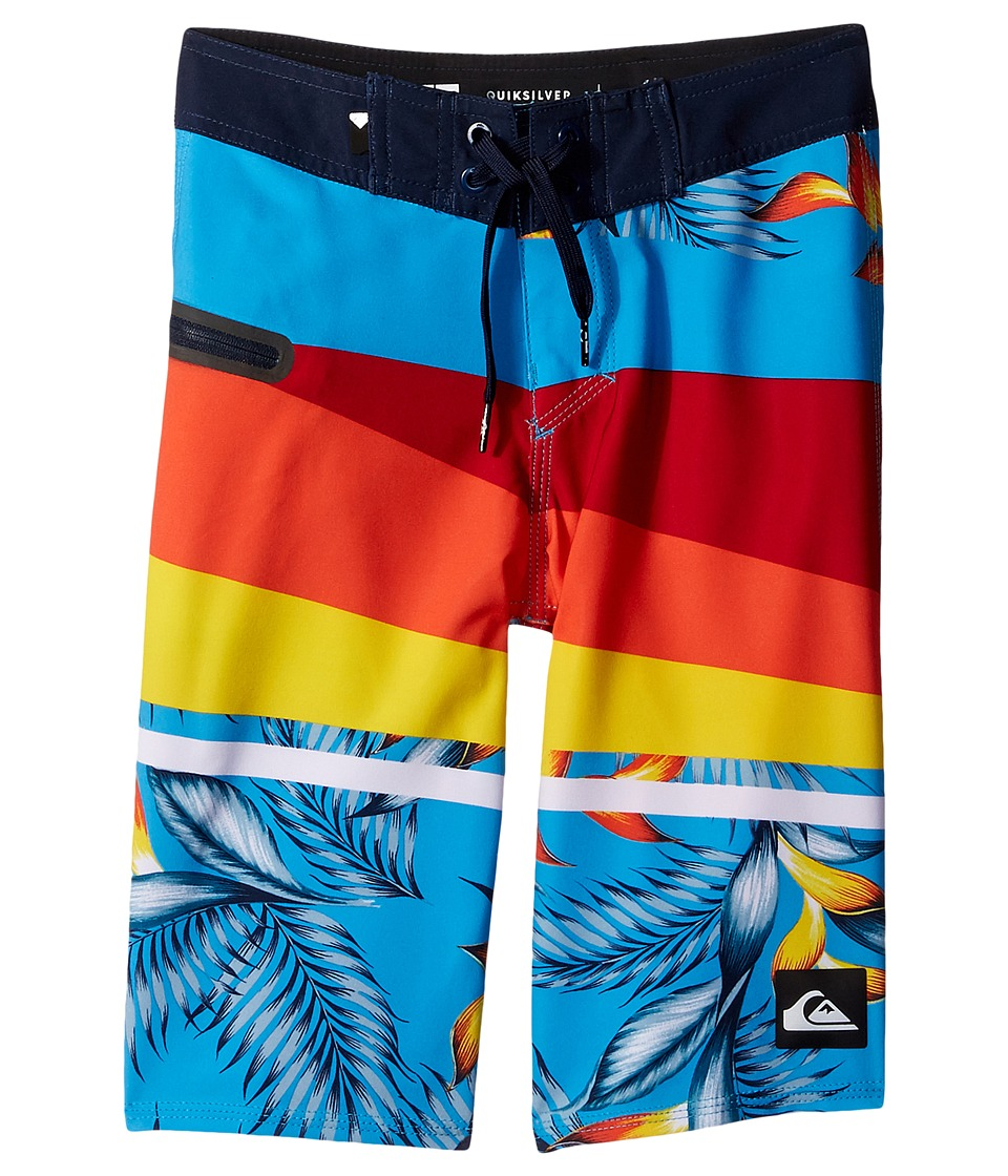 Quiksilver Kids - Slash Prints Vee Youth 19 (Big Kids) (Chili Pepper) Boy's Swimwear