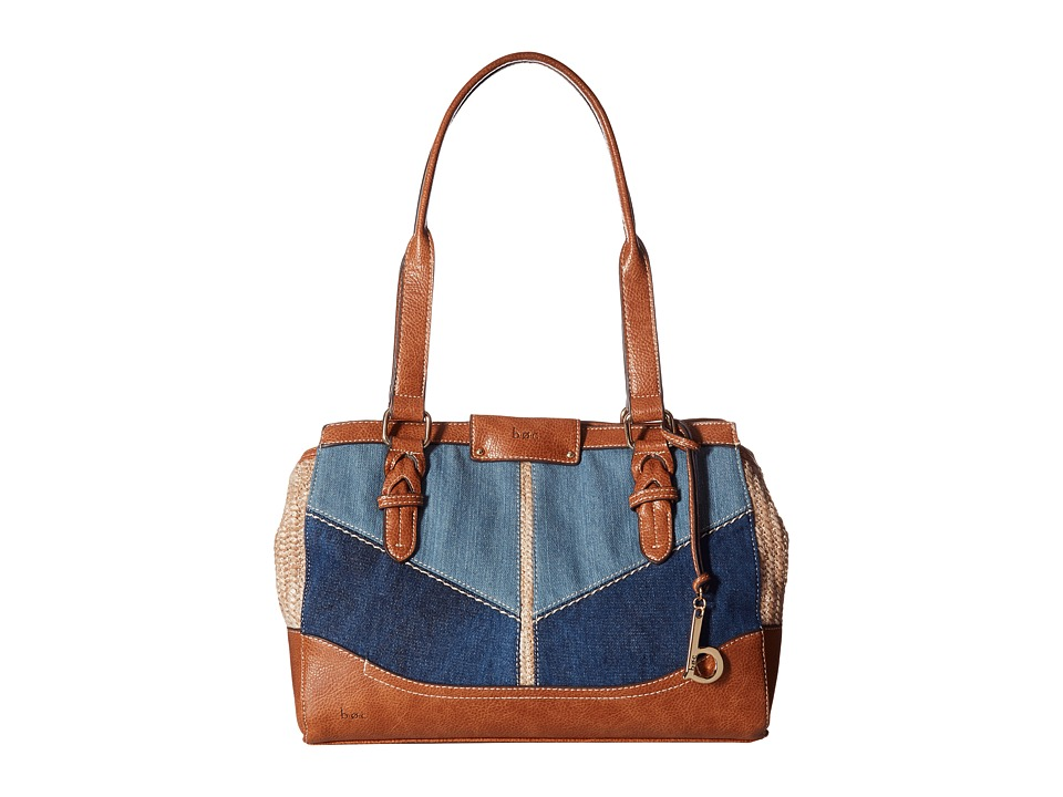 b.o.c. - Fremont Tote (Denim/Straw/Saddle) Tote Handbags