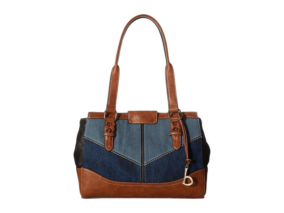 b.o.c. - Fremont Tote (Denim/Black/Saddle) Tote Handbags