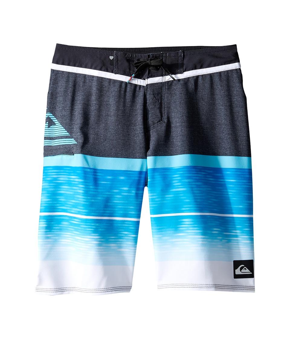 Quiksilver Kids - Slab Logo Vee 18 Boardshorts (Big Kids) (Blue Danube) Boy's Swimwear