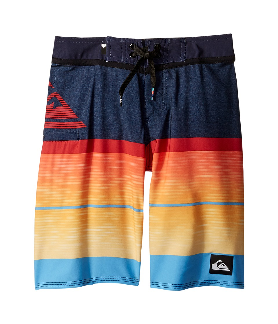 Quiksilver Kids - Slab Logo Vee 18 Boardshorts (Big Kids) (Navy Blazer) Boy's Swimwear
