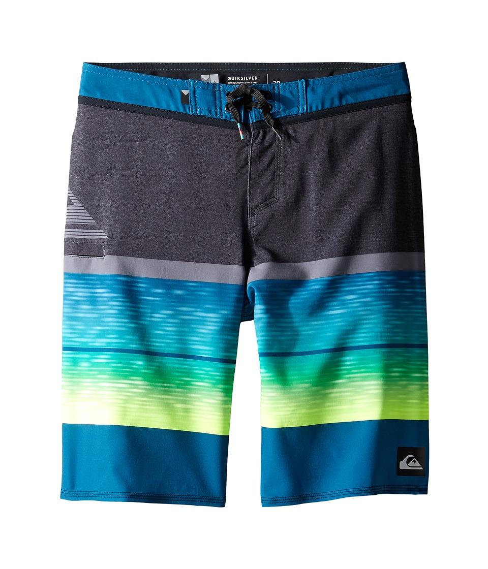 Quiksilver Kids - Slab Logo Vee 18 Boardshorts (Big Kids) (Moroccan Blue) Boy's Swimwear