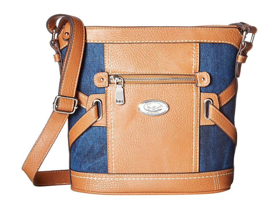 b.o.c. - Park Slope Denim Crossbody (Denim/Saddle) Cross Body Handbags