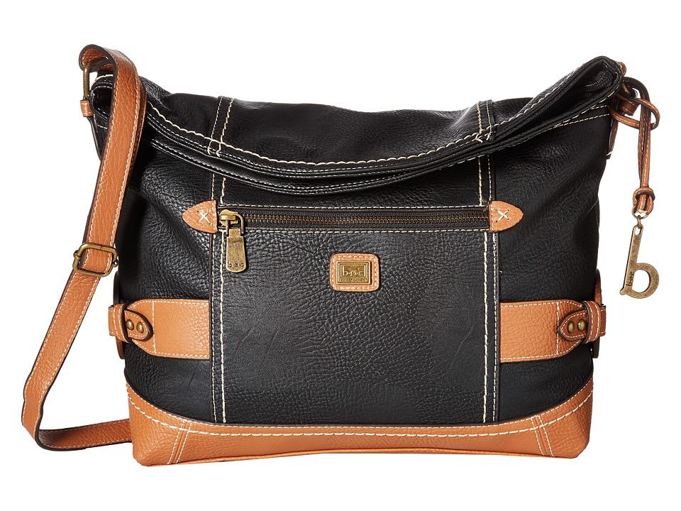 b.o.c. - Corbett Square Crobo (Black/Saddle) Cross Body Handbags