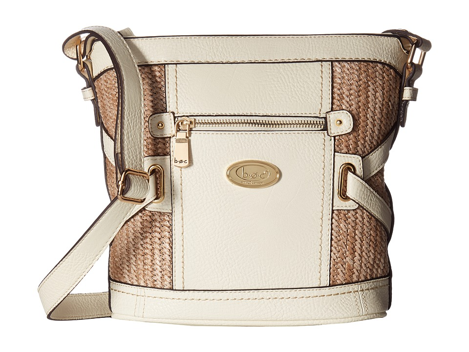 b.o.c. - Park Slope Straw Crossbody (Bone/Straw) Cross Body Handbags