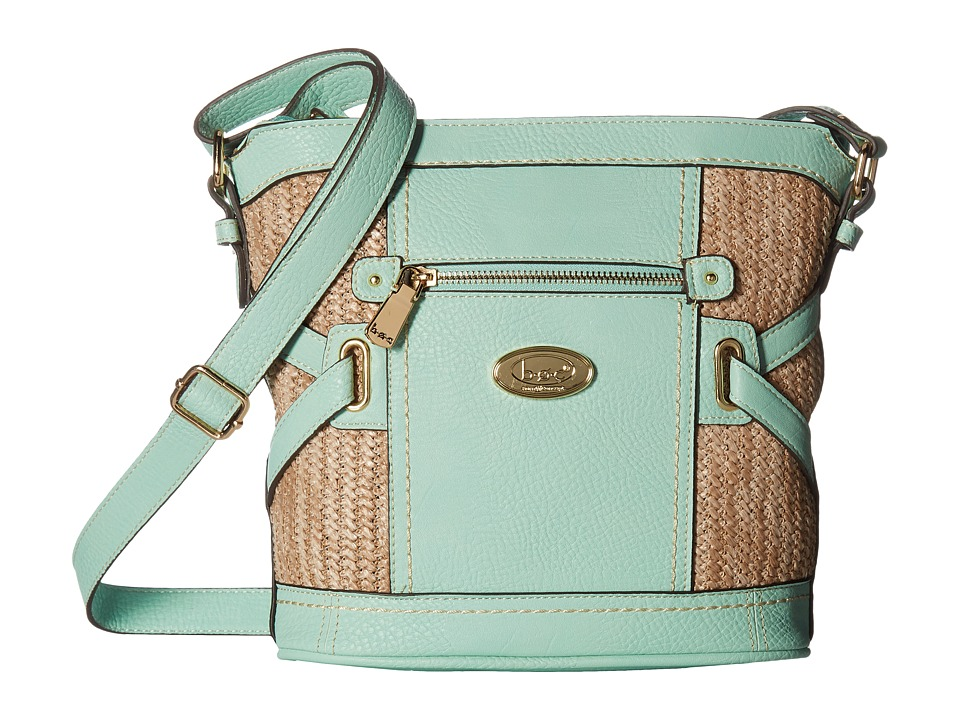 b.o.c. - Park Slope Straw Crossbody (Mint/Straw) Cross Body Handbags