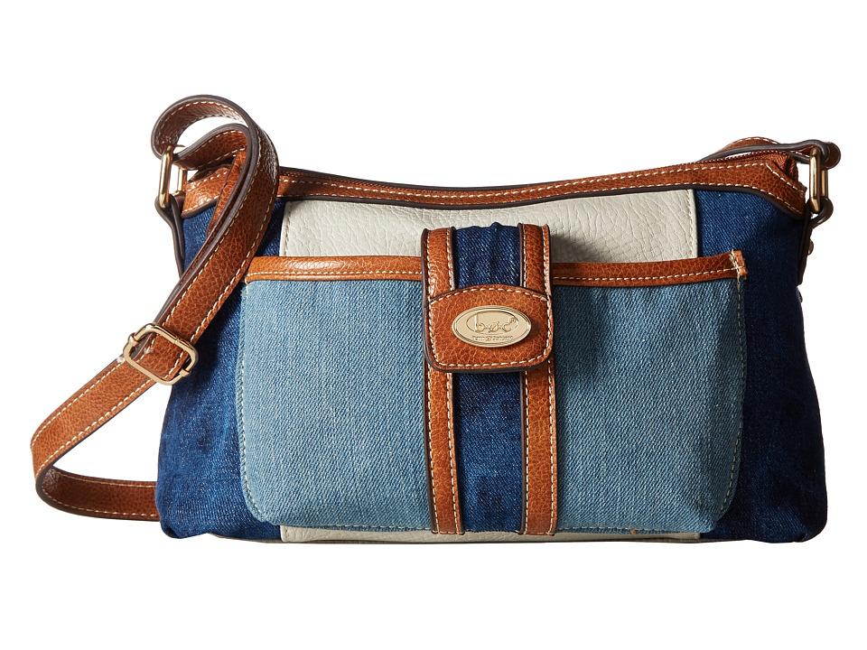 b.o.c. - Fremont Merrimac Crossbody (Denim/Dove/Saddle) Cross Body Handbags
