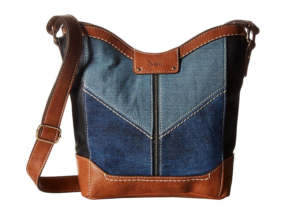 b.o.c. - Fremont Tulip Crossbody (Denim/Black/Saddle) Cross Body Handbags