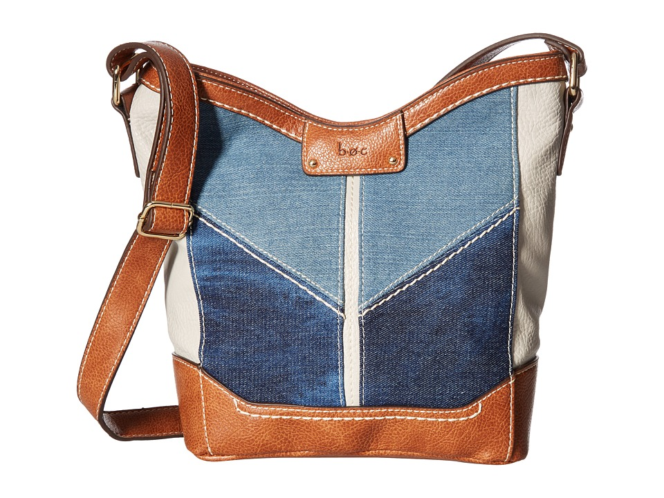 b.o.c. - Fremont Tulip Crossbody (Denim/Dove/Saddle) Cross Body Handbags