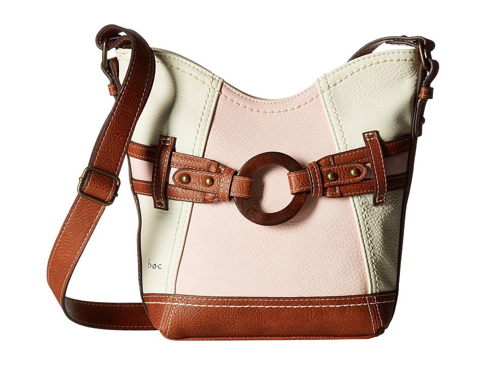 b.o.c. - Nayarit Crossbody (Bone/Blush/Saddle) Cross Body Handbags