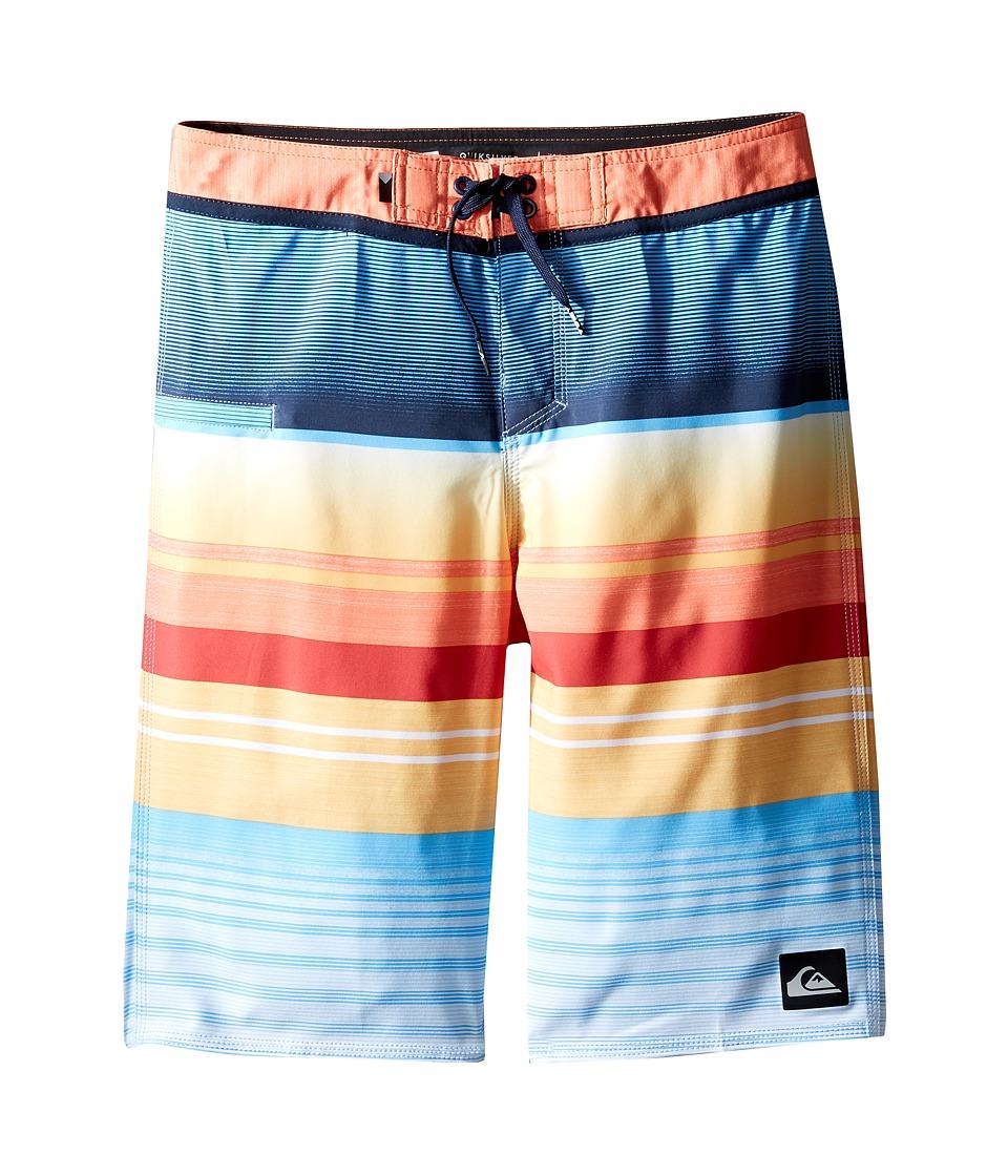 Quiksilver Kids - Everyday Stripe Vee Boardshorts (Big Kids) (Nasturticm) Boy's Swimwear