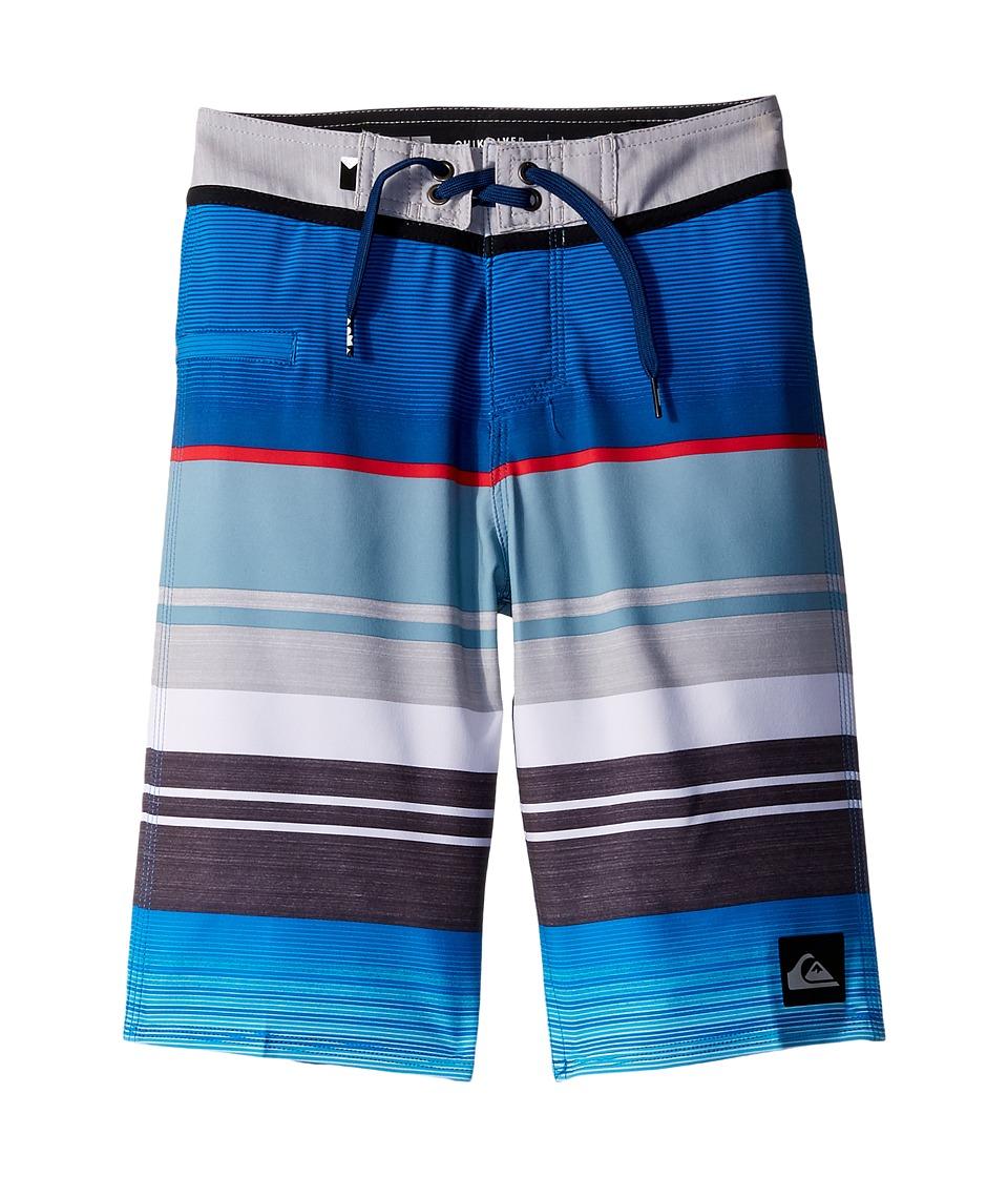 Quiksilver Kids Everyday Stripe Vee Boardshorts (Big Kids) (Wet Weather) Boy