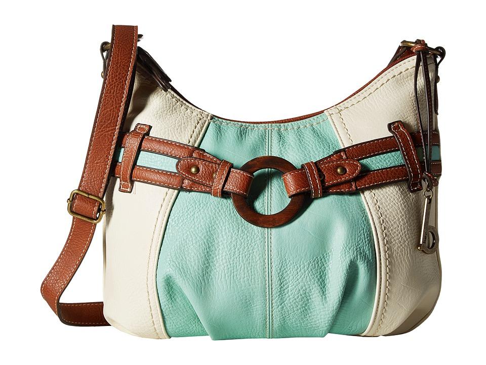 b.o.c. - Nayarit CB Crobo (Bone/Mint/Saddle) Cross Body Handbags